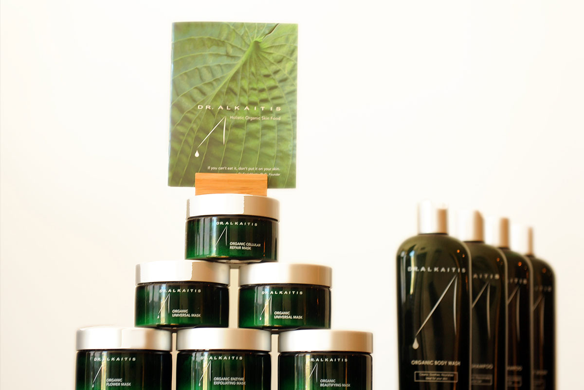 A range of Dr. Alkaitis products. Skincare so good you can eat it!