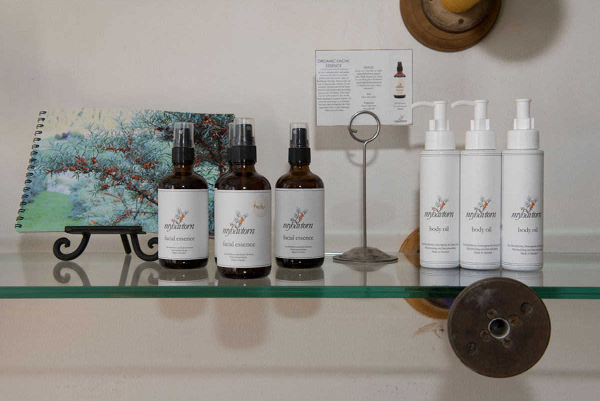 MyHavtorn skin care products on one of our retail shelves